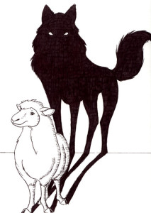 sheep-with-wolf-shadow